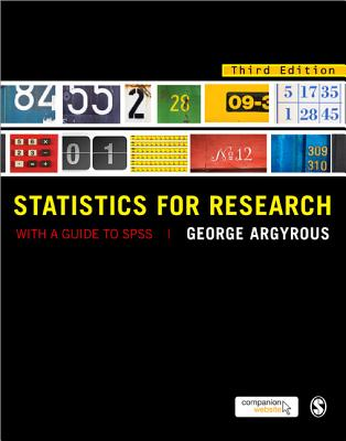 Statistics for Research By Argyrous, George